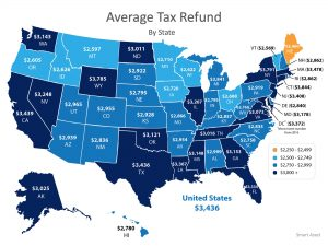 average tax refund by state
